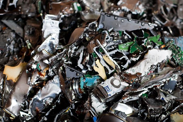 Shredded electronics