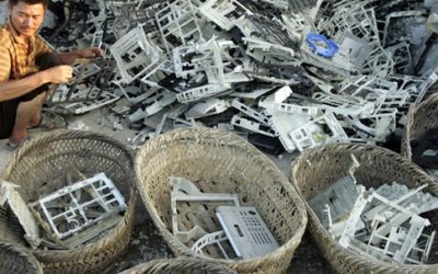 E-waste at the globe scale: the shift to circular economy
