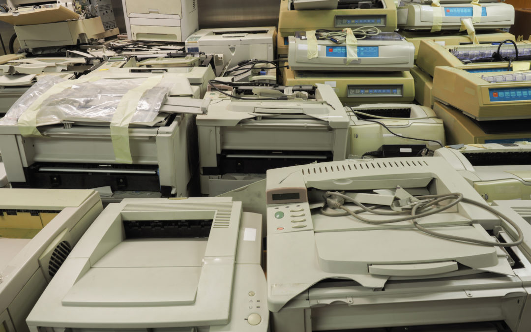 old office equipment printers for recycling