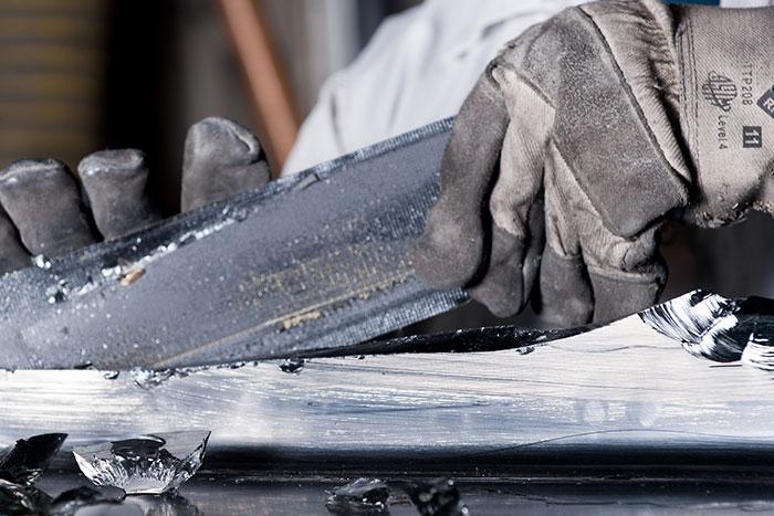 PPE for glass handling line