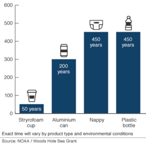 plastic biodegrade time